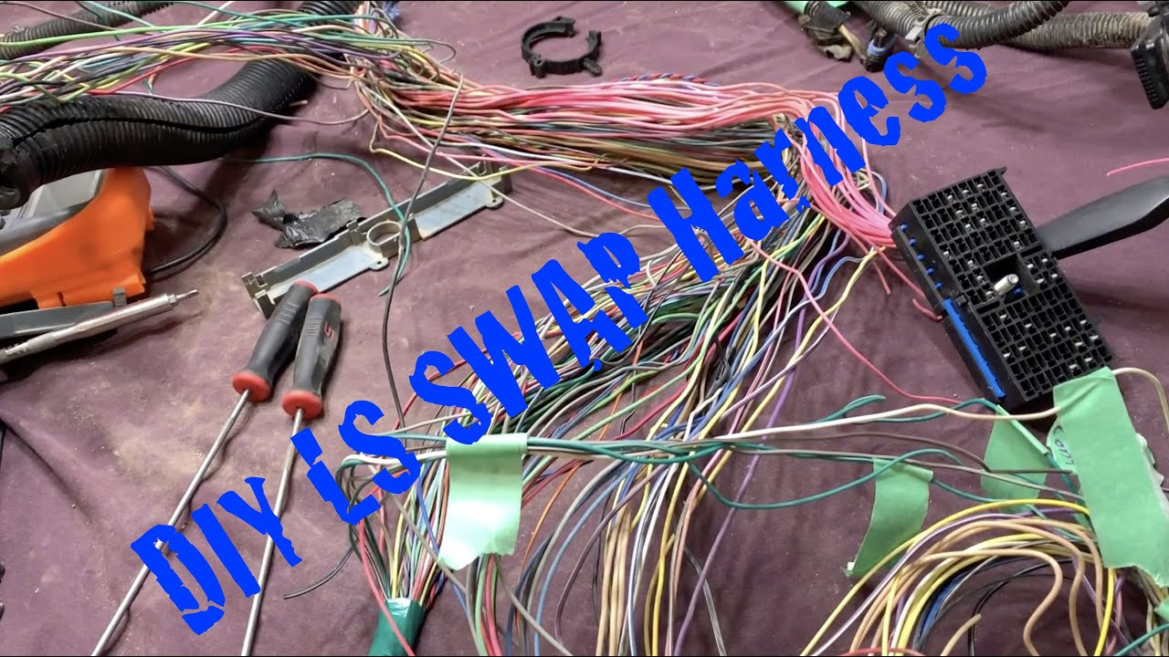 ls swap harness diy sorting the wires youtube. Black Bedroom Furniture Sets. Home Design Ideas