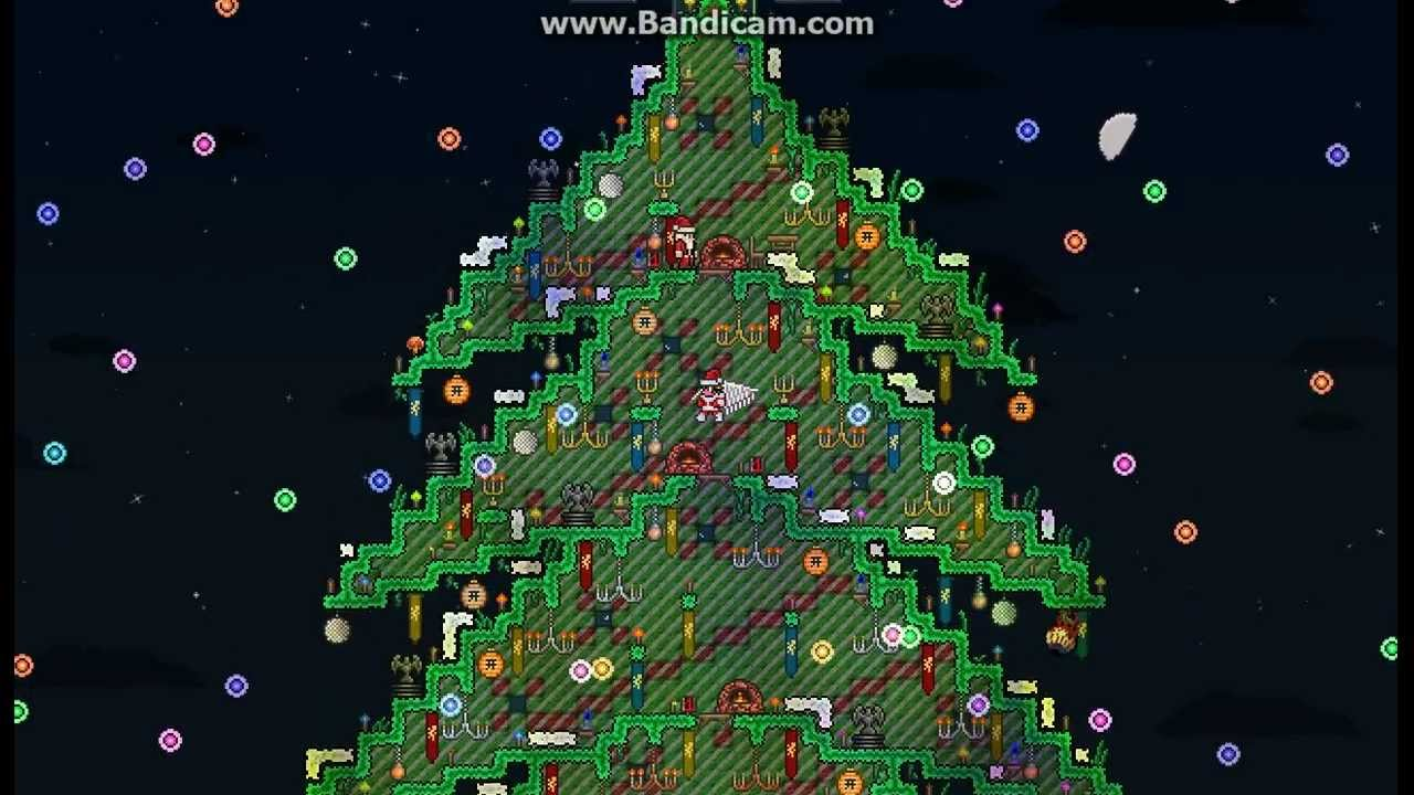 Terraria Christmas House.Terraria Oh Xmas Tree Final Version