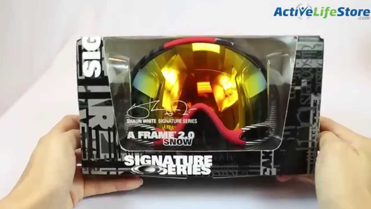 oakley ski goggles a frame  Oakley A Frame 2.0 Snowboard Ski Goggle Video Review - YouTube