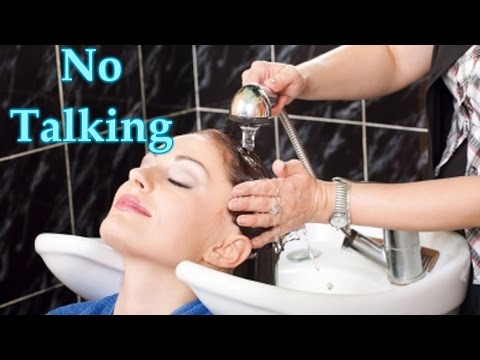 ASMR shampoo, scalp treatment, and blow dry *no talking*