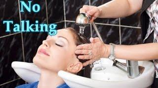 ASMR shampoo, scalp treatment, and blow dry *no talking*