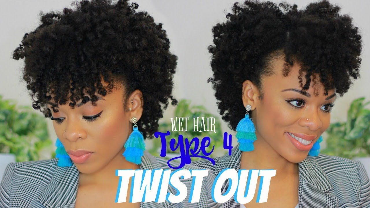 twist 4c hair wet