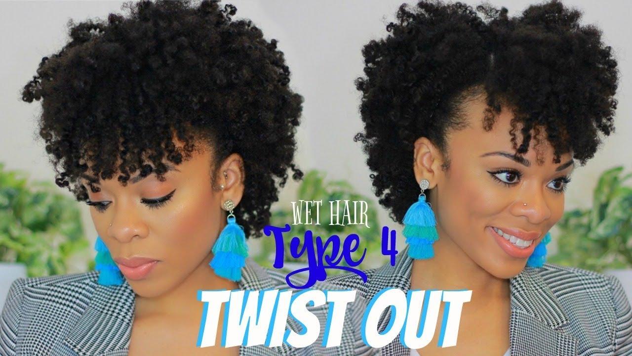 Twist Out 4c Hair Wet Hair W Naokeidoe Creations Medium Length Naturalhair Youtube