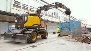 Introducing the Volvo EWR150E Short Swing Radius Wheeled Excavator