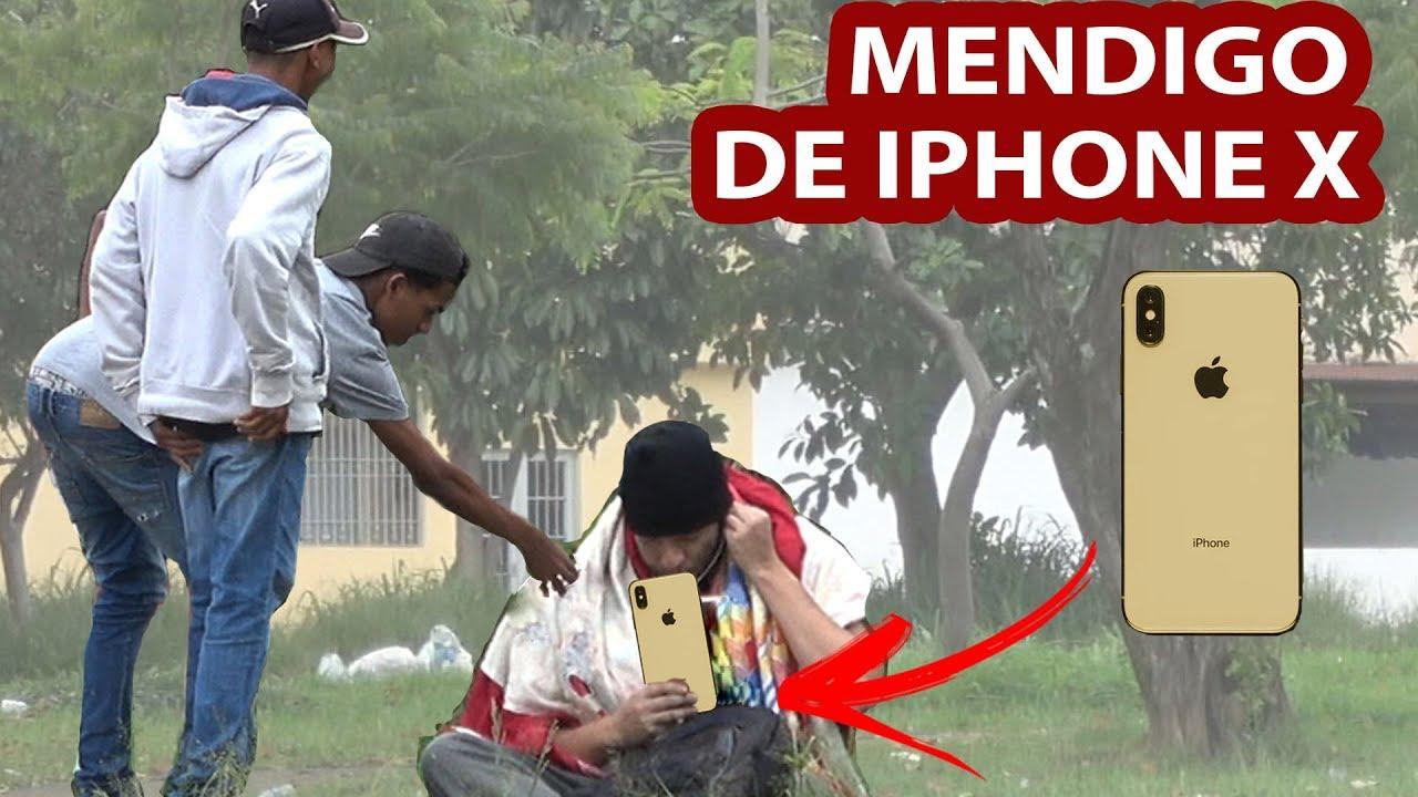MENDIGO DE IPHONE X - PEGADINHA
