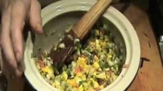 Pan Seared Marinated Tilapia With Fresh Salsa & Almonds Entrée