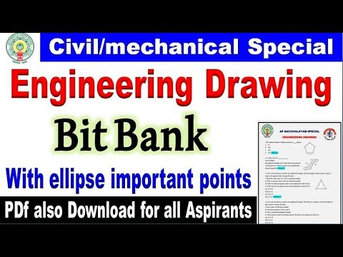 Engineering Drawing Bitbank with ellipse important points for all aspirants  By SRINIVASMech