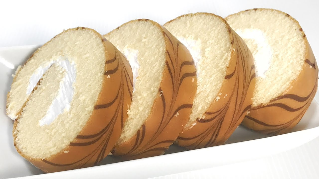 เค้กโรลวนิลา สูตรสปันจ์เค้กวานิลา เนื้อเค้กนุ่ม  สอนทำสปันจ์ละเอียดทุกขั้นตอน