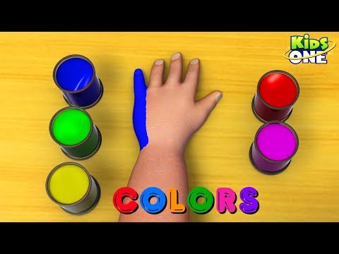 Learn Colors For Kids |  Body Painting | Greeny Kiddo Teach Colors - KidsOne