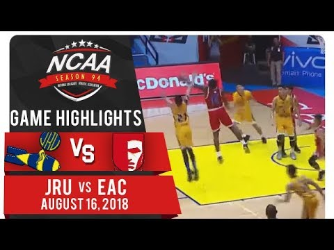 NCAA 94 MB: JRU vs. EAC | Game Highlights | August 17, 2018