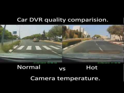 Car DVR camera comparison video when it