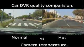 Car DVR camera comparison video when it