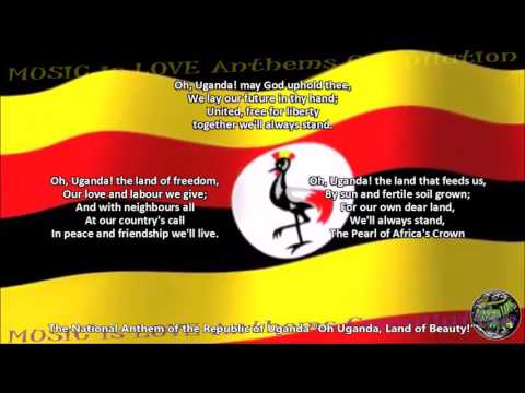 Uganda National Anthem with music, vocal CHOIR A Cappella, and lyrics ENGLISH
