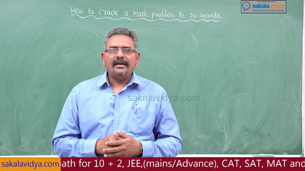 How to crack a math problem in 30 seconds part 1 - YouTube