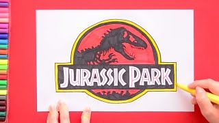 jurassic park drawing lesson