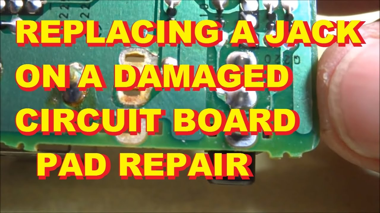 Replacing A Jack On A Circuit Board When The Copper Pads
