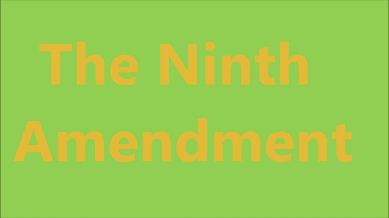 The Ninth Amendment Song - YouTube
