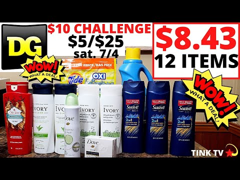 💥DOLLAR GENERAL COUPONING FOR BEGINNERS💥$5/$25 For 7/4💥 EASY $10 CHALLENGE💥HOW TO GET MONEY BACK 🎉💲