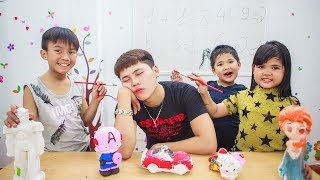 Kids Go To School | Chuns Learn Draw Colored Statues And Drawing Animals Smart
