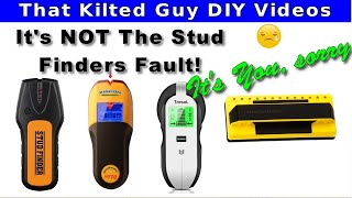 How a STUD FINDER works. You MUST understand it, or it WILL FAIL.