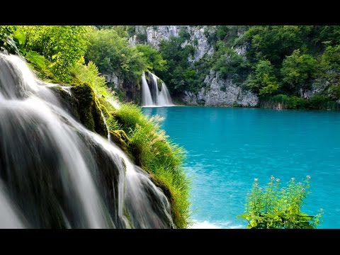 Relaxing nature sounds PLITVICE  lakes national park WATERFALL  Croatia travel  NATURE  HD 1080p