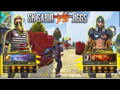 SK SABIR BOSS VS JIGS || BEST VS BEST || FREE FIRE BATTLEGROUND