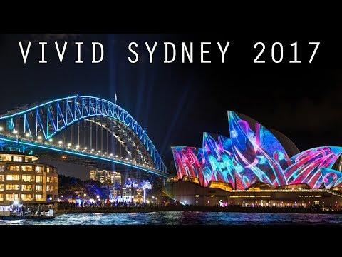 Vivid Sydney 2017 Light Show - Sydney Opera House, Harbour Bridge, MCA & Botanic Gardens