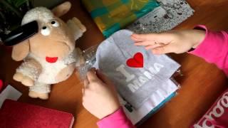 Посылка из Китая №5. Обзор.Детские шапочки. I love papa&mama(Я люблю маму и папу) Распаковка.