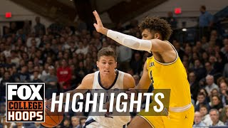 Michigan vs Villanova | FOX COLLEGE HOOPS HIGHLIGHTS