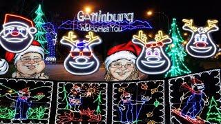 Gatlinburg Christmas Lights Tour 2019 Arts and crafts Community and Santa's Closet