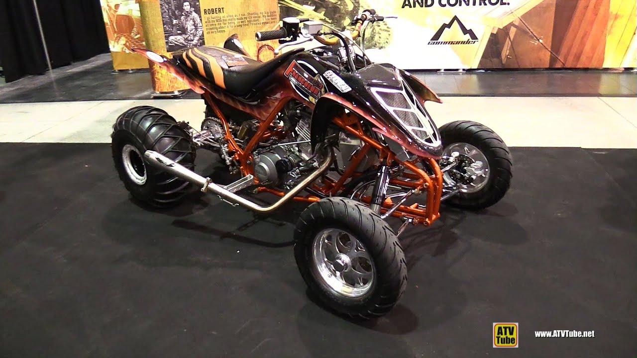 Yamaha raptor custom atv walkaround 2014 st hyacinthe atv show youtube