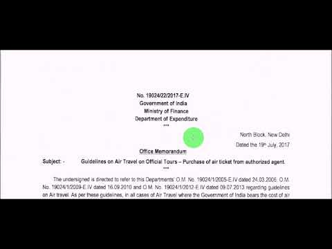 7th Pay_Purchase of Air Ticket from Authorized Agent: Railway Board Order_Railway Employees News
