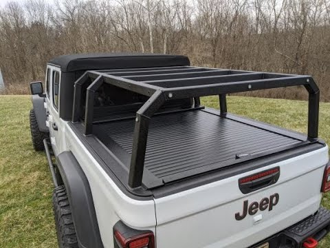 nuthouse industries jeep gladiator rack with coiling cover
