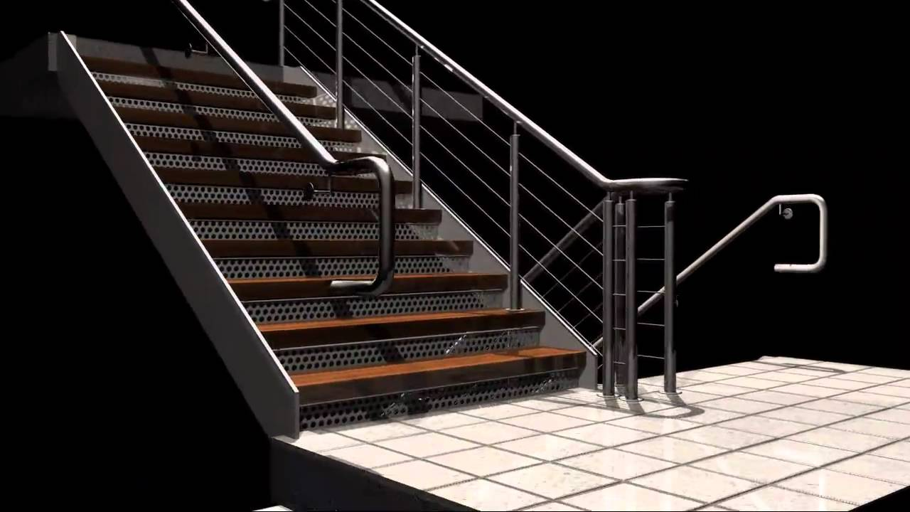 Rendering Of Industrial Stairs Youtube