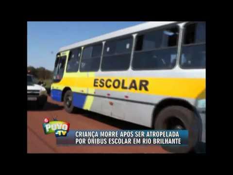 Criança morre atropelada por ônibus escolar em Rio Brilhante