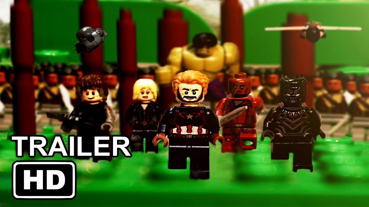 avengers  infinity war official trailer in lego
