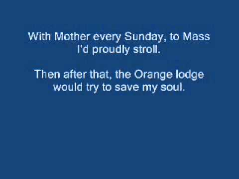 The Orange and the Green - Lyrics