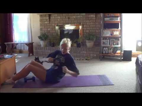 At Home Toned Abs Weighted Incline Sit-Ups, TONED ABS
