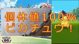 【ポケモンGO】ハロイベ中に個体値100%帽子ピカチュウ出現!