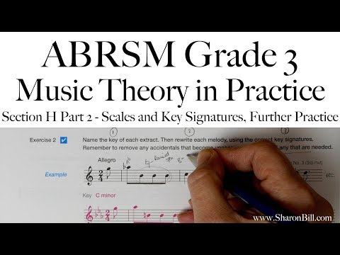 ABRSM Grade 3 Music Theory Section H Part 2 Scales and Key Signatures, Further Practice with Sharon