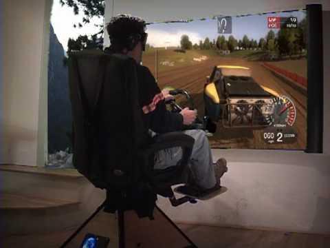 Home Simulator Gaming Chair on DiRT  off road racing