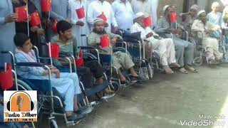 wheel chairs donated by China embassy for disable people  mirzai shabqadar Thanks China emb