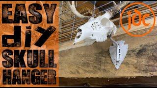 DIY skull hooker - homemade european mount hanger display