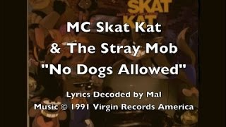 "MC Skat Kat - ""No Dogs Allowed"" Lyrics"