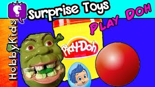 Shrek POO Surprise! EGG Word + Play-Doh Fun, Spiderman by HobbyKidsTV