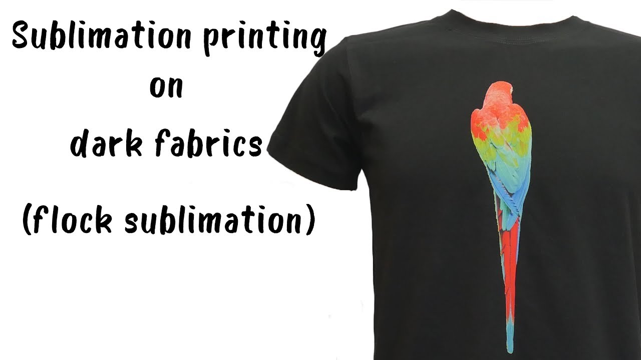 881276bf6cd7b Sublimation printing on dark fabrics (Flock Sublimation) - CottonCanDo