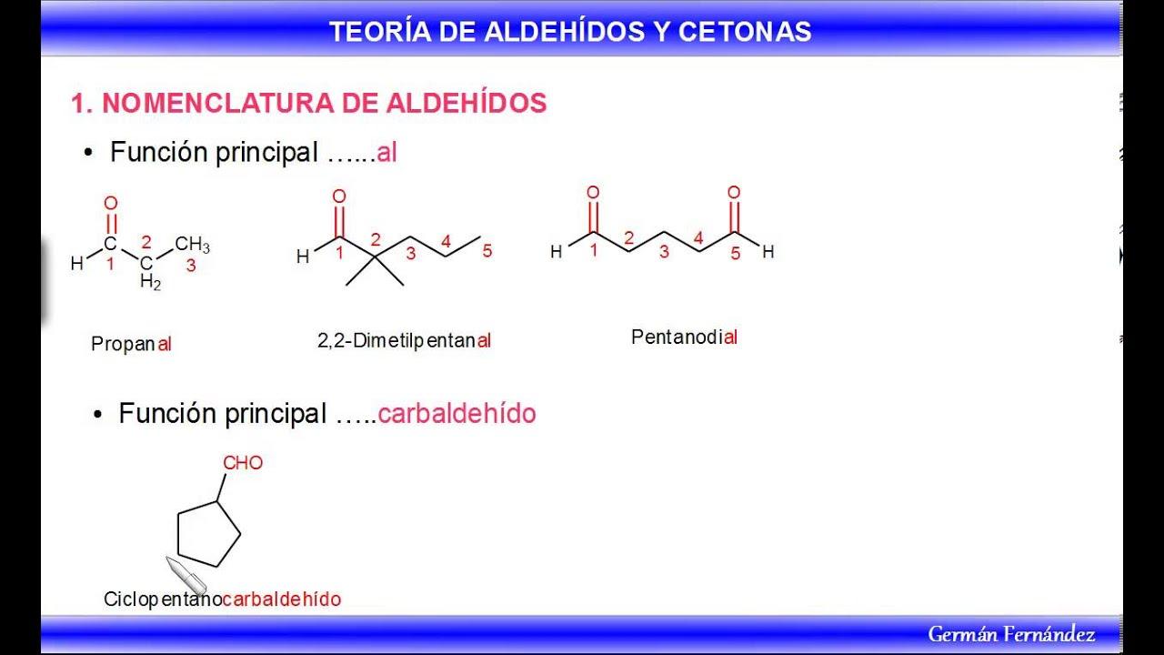 Aldehídos - Reglas de nomenclatura IUPAC - YouTube