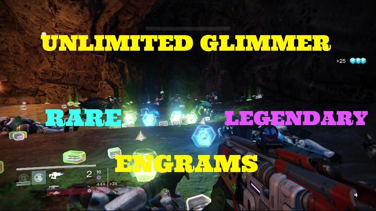 Glimmer legendary amp rare engrams best farming location in destiny