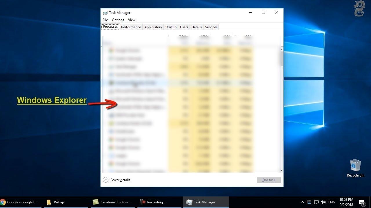 Fix-Taskbar Icons Disappear in Windows 10 (Restart Windows Explorer)