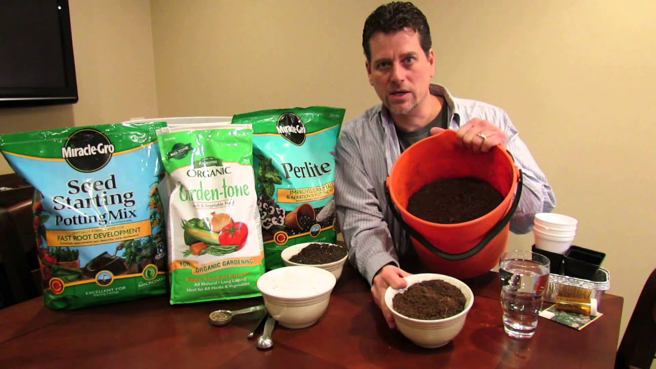 How to Make Your Own Seed Starting Mix and  Potting Mix: Save 75% - The Rusted Garden 2014